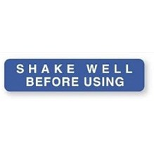 Shake Well Before Using Label  1-5/8