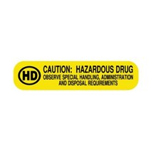 Hazardous Drug Label 1-5/8 x 3/8