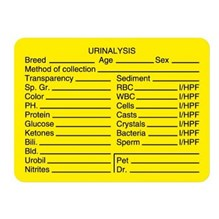 Urinalysis Lab Label Yellow 400 labels/roll