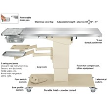 Olympic Dental Table With 2 Swivel Arms With Trays