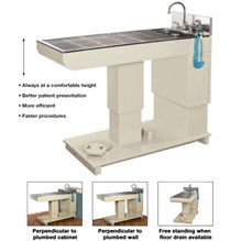 Olympic Hi-Lo Wet Table With Stainless Steel Exam Top