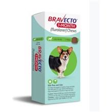 Bravecto 1 MONTH Chew 22-44lbs 1ds/card  10 cards/box
