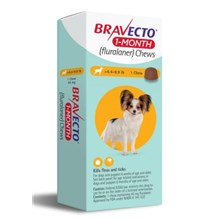 Bravecto 1 MONTH Chew 4.4-9.9 lbs 1ds/card  10 cards/box