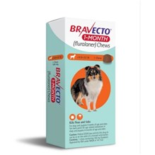 Bravecto 1 MONTH Chew 9.9-22 lbs 1ds/card  10 cards/box