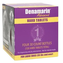 Denamarin Advanced Large Dog 35lbs and over HARD TABLET 4 bottles/bx 30ct each