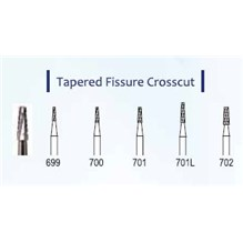 #701 Cross Cut Taper Fissure Dental Bur